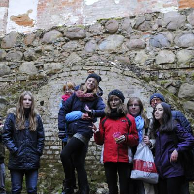 Wizyta na zamku w Karlinie.